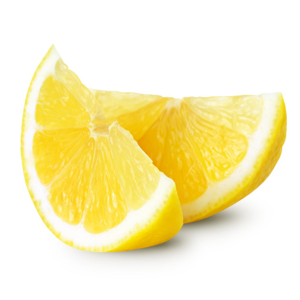 lemon half isolated on white background. Clipping Path