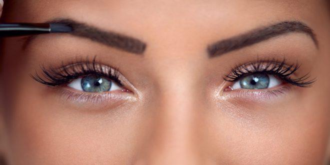 Eyes makeup close-up